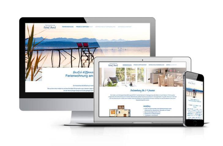 Webdesign für die Ferienwohnung Robert Brack