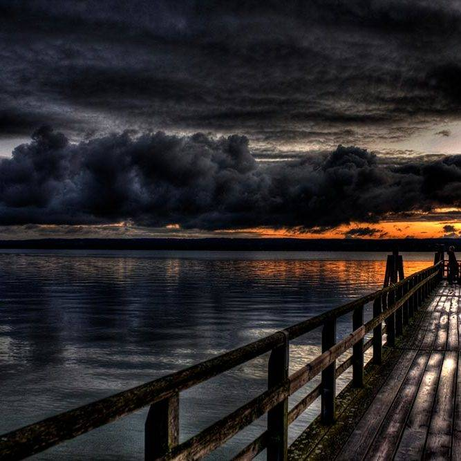 Landschaftsfotografie Sonnenuntergang am Ammersee