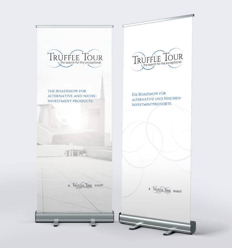 Rollup Banner für Truffle Tour