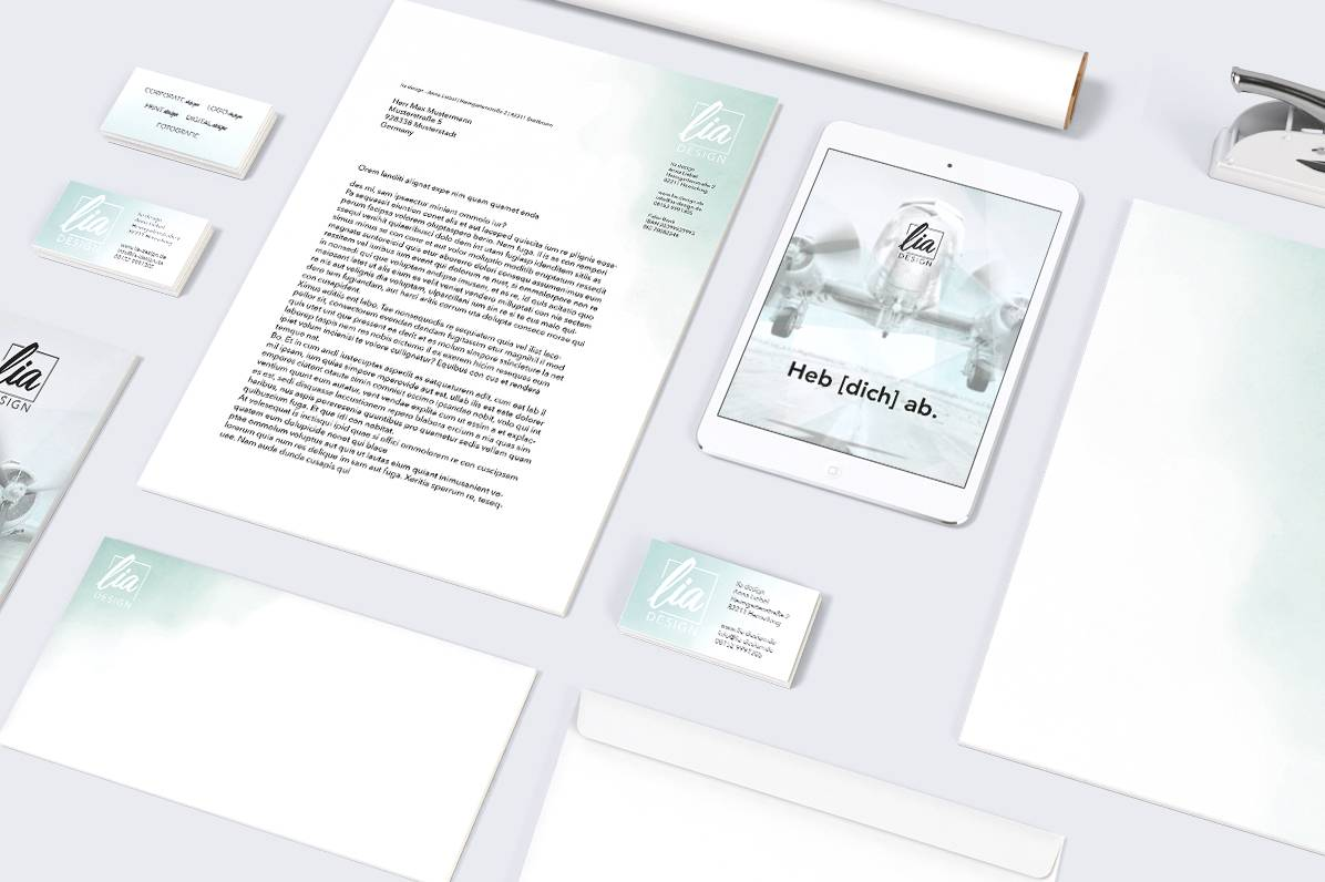 Helles Corporate Design und Branding von lia design
