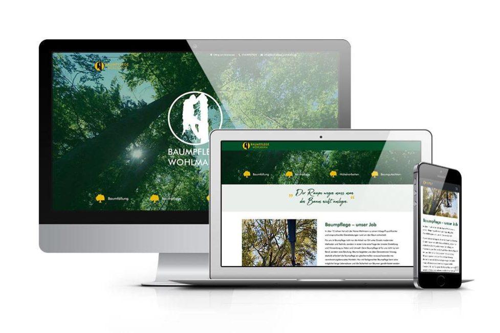 Webdesign Baumpflege Wohlmann
