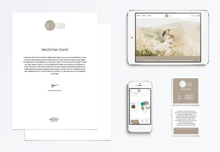 Corporate Design und Online Shop HEJ! FAIR