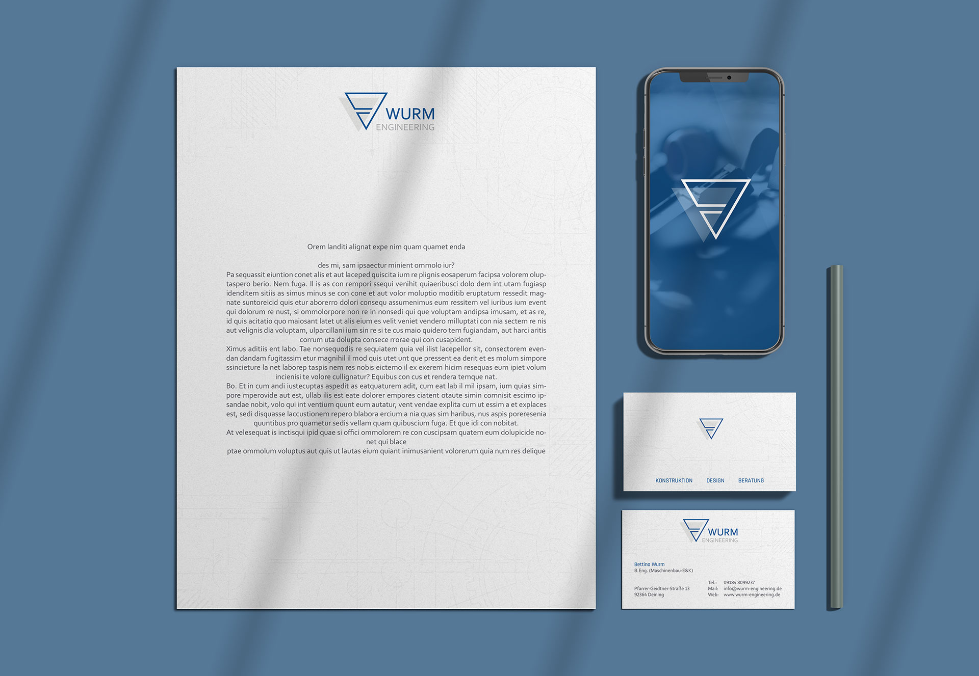 Wurm Engineering Corporate Design