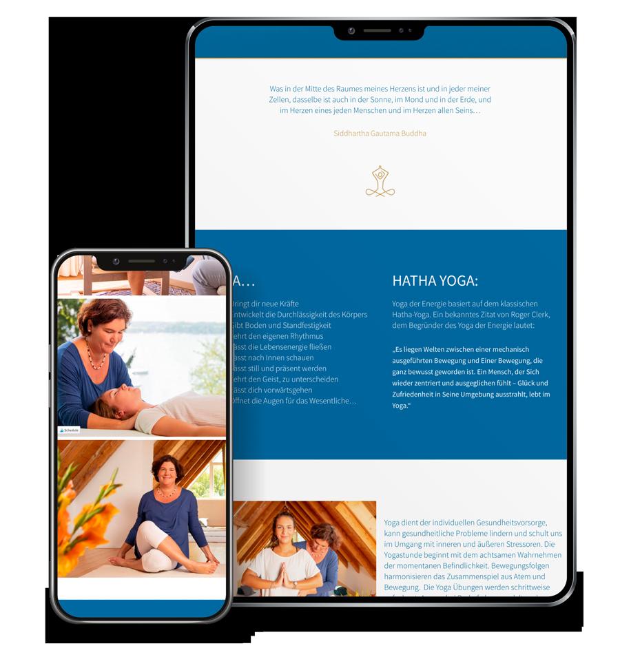 Responsive Webdesign für Yoga Studio