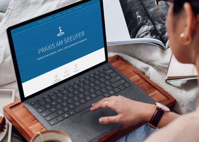 Webdesign für Praxis am Seeufer